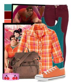 """Wreck-it Ralph"" by totallytrue ❤ liked on Polyvore featuring RALPH, Current/Elliott, Mossimo, Gap, disney, disneybound, WreckItRalph, ShowUsYourDisneySide and DisneyColorByHammie"