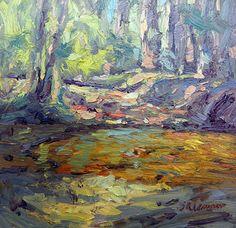 """""""Tootoohatchee Creek"""" 4x4 oil on copper.  Sold!  www.ReneeLammers.com"""