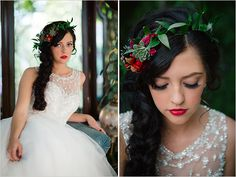 Whimsical wedding inspiration from Wedding Chicks. This wedding takes its cues from the classic fairytale, Snow White and the Seven Dwarfs. www.weddingchicks.com/2015/02/27/snow-white-wedding-ideas/