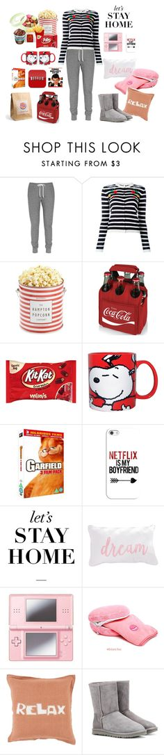 """""""Cozy Contest"""" by shoujoandmore ❤ liked on Polyvore featuring Aubin & Wills, VIVETTA, The Hampton Popcorn Company, Picnic Time, Westland Giftware, Casetify, Nintendo, Décor 140 and UGG Australia"""