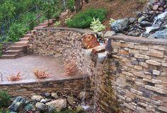 Retaining Wall with Eldorado Stone Facade