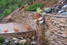 Retaining Wall with Eldorado Stone Facade