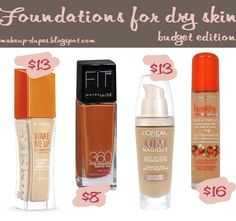 Makeup dupes: Drugstore foundations for dry skin