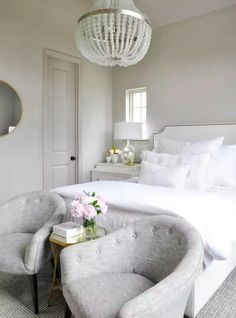 Guest bedroom idea / The One Room Challenge Full Reveal is finally here! After six weeks, all of the pieces of the puzzle have come together and I hope you love the results. Guest Bedrooms, All White Bedroom, Home, Bedroom Makeover, Home Bedroom, Luxurious Bedrooms, Guest Bedroom Design, Bedroom Inspirations, Guest Bedroom Decor