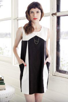I also love her bright lipstick. Wish I could do that. http://hounddesign.com/shop/dresses/eclipse-dress/