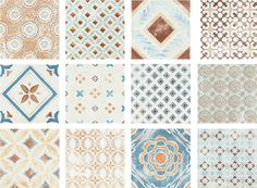 not the colors - love the shapes, patterns, might be nice design elements - subtle italian