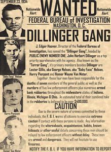 Dillinger Gang 1934 wanted poster  One of the best modern tales ever told!