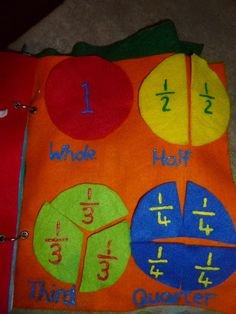 Morgan - Felt fractions older quiet book My Guide To Home Made: Quiet /Busy book For Big Boy Diy Quiet Books, Baby Quiet Book, Felt Quiet Books, Quiet Book Patterns, Busy Boxes, Book Quilt, Book Projects, Business For Kids, Book Activities