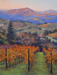 Local Tuscany pastel landscape painting by Clark Mitchell Pastel ~ 24 x 18…