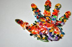 Quilled Hand