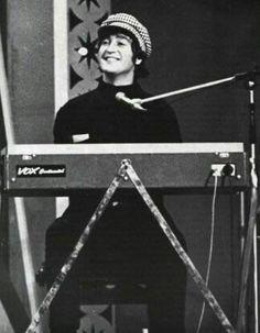 John Lennon playing his Vox Continental keyboard