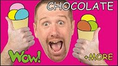 Chocolate Cake, Ice Cream + MORE English Short Stories for Children from Steve and Maggie - YouTube