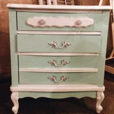 hello sailor: Mint/White Side Table- SOLD