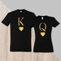 0de20b7c9f1d3 Couple matching royal t-shirt King with Queen by SayYouLoveMeGifts Novios  Vestidos Iguales