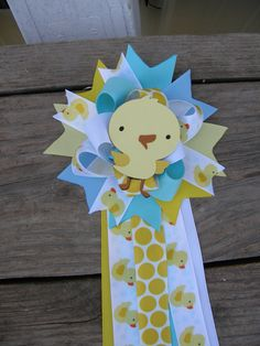 baby shower duckduck corsage Rubber Duck Baby Shower by bonbow