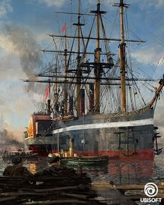 Ubisoft Offizielle Webseite - ANNO 1800 Western Union, Sailing Ships, Fighter Jets, Steampunk, Boat, City, House, Vintage Boats, Technology Innovations
