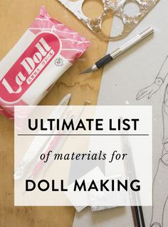 On this page, you'll find all my favourite tools and materials that I use for doll making. When you're just starting out it could be a little overwhelming purchasing a doll maker starter kit and it can get quite expensive if you're buying all the clays and tools available, haha. If you're experienced doll maker, I hope you'll learn something new and discover materials you haven't tried yet!