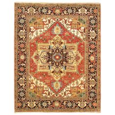 """8' x 10'3"""" Serapi Heritage Rug in Copper and Cream - Beyond the Rack"""