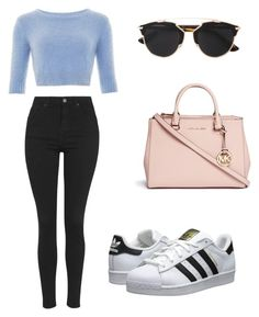 """""""Untitled #84"""" by mariana-martins-ii on Polyvore featuring Michael Kors, Topshop, Christian Dior, adidas Originals, women's clothing, women's fashion, women, female, woman and misses"""