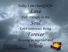 Today I am thankful for Love - A Poem | The Grief Toolbox