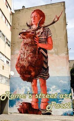 Rome's street art >> Read my blogpost here: http://www.blocal-travel.com/street-art/rome-street-art/