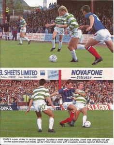 Dundee 1 Celtic 0 in Sept 1988 at Dens Park. Action as Celtic lose their 5th SPL game in 7 played.