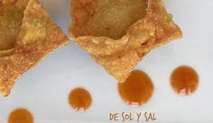 Fritos de wonton con salsa agridulce