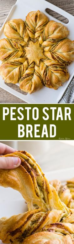 This Pesto Star Braid is as delicious as it is lovely - video tutorial. Fall | Autumn | Holiday | Thanksgiving | Christmas