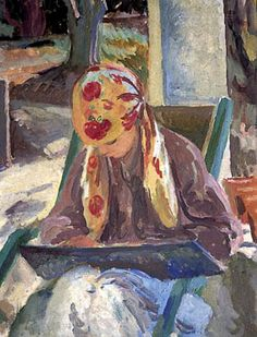 Bell, Vanessa (1879-1961) A girl reading, 1932