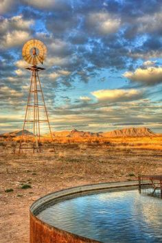 God's Country - Alpine, Texas ~ Photo by. Texas Hill Country, Country Life, West Texas, Country Roads, Farm Windmill, Windmill Diy, Cool Pictures, Beautiful Pictures, Old Windmills