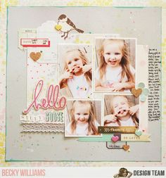 NoelMignon.com Layouts and Projects: playing with spray mist/Back to School DT Challenge