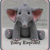 Knit in-the-round, the front legs and body are all one piece. tall, Baby Elephant is worked in worsted wt. yarn, using approx. Baby Elephant has a sweet innocence that will capture the heart of a special someone. Baby Knitting Patterns, Knitting For Kids, Free Knitting, Knitting Projects, Crochet Projects, Knitting Toys, Smocking Patterns, Loom Patterns, Knitting Ideas