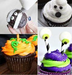 Si quieres celebrar esta espeluznante fiesta haciendo ricos postres, ¡decóralos! A continuación, te damos una receta base de cupcake y frosting y algunas ideas que puedes modificar ¡y decorarlos como más te gusten!
