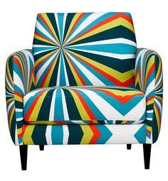 CB2 Parlour Bold Chair #pattern #chair