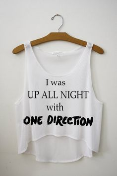 UP ALL NIGHT One Direction Cropped Tank Top♡