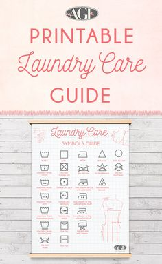 Download our printable laundry guide and make more time for sewing!