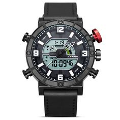 079946e707f4 Cool Camping Sport Watches LED Display Clock Watch Leather Band Watches For  Men. Relojes En