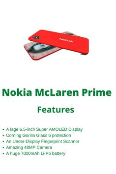 Nokia Mclaren Prime 2020: 10GB RAM, 48MP Camera, and 7000mAh Battery! Are you wondering? Just read this article. Recently, Nokia Company is planning to bring a new Nokia flagship this year. What is not available on this phone? There is a large 6.5-inch Super AMOLED display. It will impress you. For more information keep eye on this post. Finger Print Scanner, Release Date, Smartphone, Display, Eye, How To Plan, Reading, Floor Space, Billboard