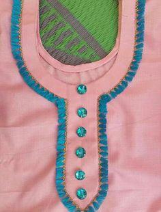 Neck design Chudithar Neck Designs, Neck Designs For Suits, Neckline Designs, Sleeves Designs For Dresses, Dress Neck Designs, Stylish Dress Designs, Punjabi Suit Neck Designs, Salwar Neck Designs, Kurta Neck Design