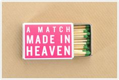 What a heavenly pun! Wedding Quotes: Match Made in Heaven Diy Valentines Gifts For Him, Diy Gifts For Him, Be My Valentine, Cute Gifts, Valentine Ideas, Wedding Phrases, Wedding Quotes, Wedding Puns, Wedding Stuff