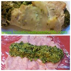 Delicious rolled chicken filled with silverbeet, parsley, mint, walnuts, coconut oil, spring onion green tops, pink rock salt and black pepper.  #dinner #paleo #primal #huntergatherer #jerf #cleaneat #lowcarb #goodfats #glutenfree #dairyfree #naturalfood