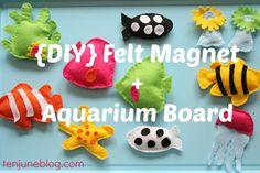 DIY felt magnet aquarium sensory board tutorial | #BabyCenterBlog