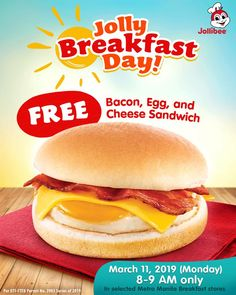 719b8fc99bb07 Jollibee Jolly Breakfast Day Promo - March 11, 2019 ONLY