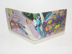 Back To School Sale// Comic Book Wallet// Invisible Woman, Mister Fantastic, and Nova with big guns, $2.80