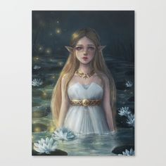 Zelda Canvas print by ARiA Illustration on Society6