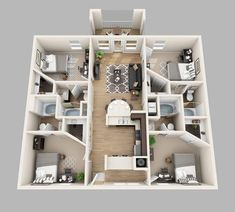 4 bedroom apartment house floor plans four best of 2 story country style lu Sims House Plans, House Layout Plans, Small House Plans, House Layouts, House Floor Plans, Floor Plan 4 Bedroom, Bedroom House Plans, Sims 4 House Design, Small House Design