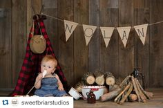 Image of Woodsy Wonders Style, Buffalo Plaid Newborn Tee-Pee Lumberjack Birthday Party, Wild One Birthday Party, Boy First Birthday, Boy Birthday Parties, Birthday Ideas, 1st Birthday Pictures, Buffalo Plaid, First Birthdays, Tee Pee