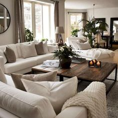 heartwarming living room decor and 12 tips for contemporary living room deco. Living Room Decor Cozy, New Living Room, Living Room Interior, Home Interior Design, Small Living, Neutral Living Rooms, Cozy Living Room Warm, Classic Living Room, Elegant Living Room