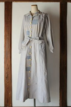 French antique patched work dress/France 1920s by SASAKIYOHINTEN
