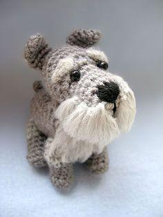 Schnauzer amigurumi crochet pattern by Gill Wade